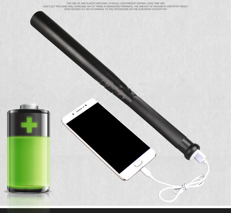 Mobile power cell phone charging LED Long Flashlight Rechargeable Self Defense Glare Flashlight Extended Baseball Bat brown 3 7v lithium polymer battery 7565121 charging treasure mobile power charging core 8000 ma rechargeable li ion cell