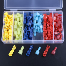 120 PCS ( Red Blue,Yellow) T Tap Electrical Connectors Quick Wire Splice Taps and Insulated Male Quick Disconnect Terminals цена