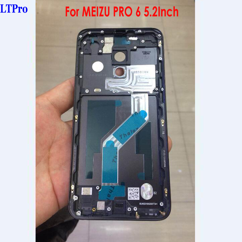 LTPro Best Quality NEW Rear Back Battery Cover Housing Door Case For MEIZU PRO 6 With Power Volume Buttons Phone Parts