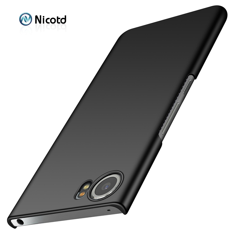 For Blackberry KEYone Case Luxury Slim Hard Plastic Phone Case for Blackberry KEYONE Back Cover Protection Black Matte PC bags(China)