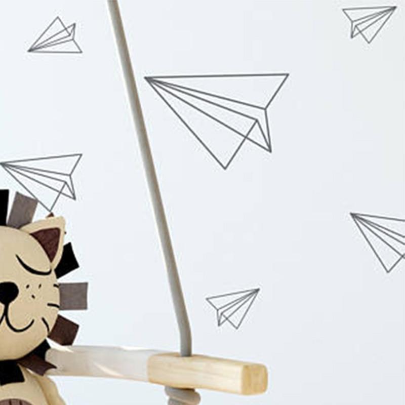 Aereo Stickers Murali di carta Origami Adesivi Murali Per Nursery Camera Da  Letto Camera Dei Bambini A Casa Decorazione Della Parete di Arte Murale ...