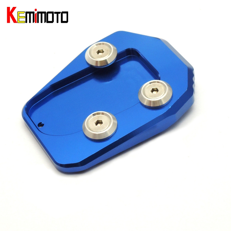 KEMiMOTO For Yamaha MT-09 MT09 Motorcycle CNC Side Kickstand Stand Extension Plate For YAMAHA MT 09 FZ 09 FJ09 Tracer 2014-2016 for yamaha mt09 mt 09 mt 09 2013 2015 2014 new motorcycle parts kickstand foot side stand enlarge extension pad support plate