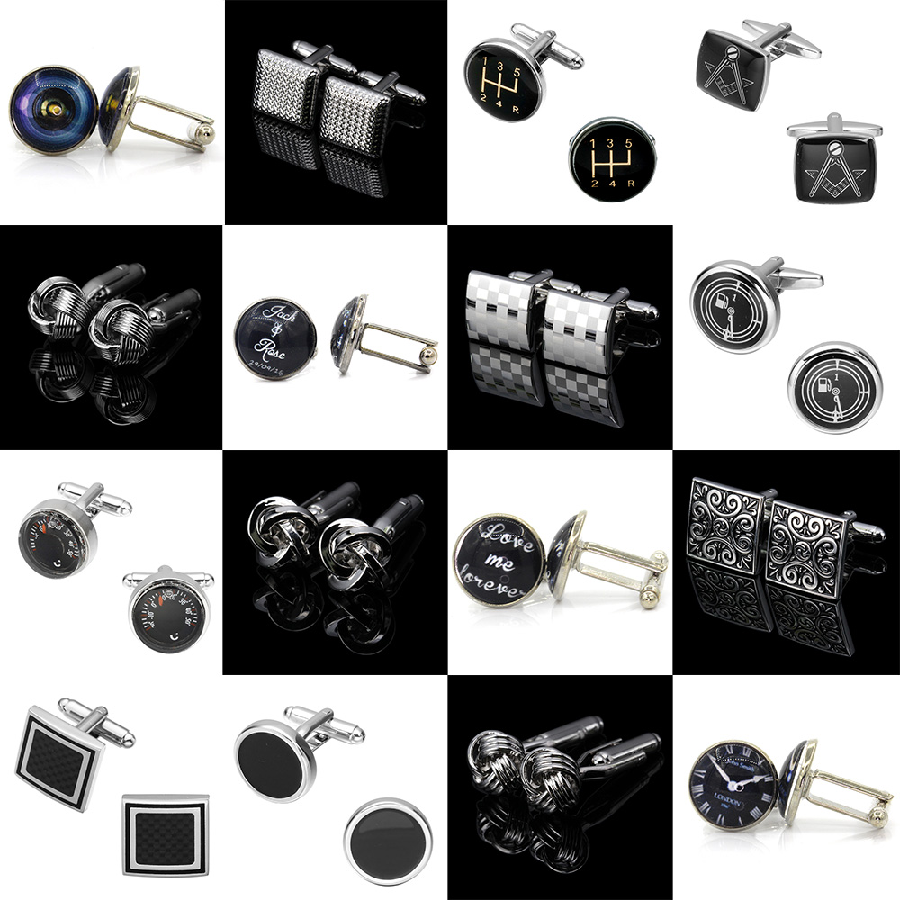 Memolissa Classic Mens Cufflinks Square/Round/Knot Design Business Shirts Cuff Button High Quality Wedding Cufflinks Abotoadura