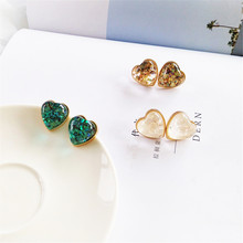 Fashion exquisite earrings peach heart Elegant girl contracted fashion elegant love Ear