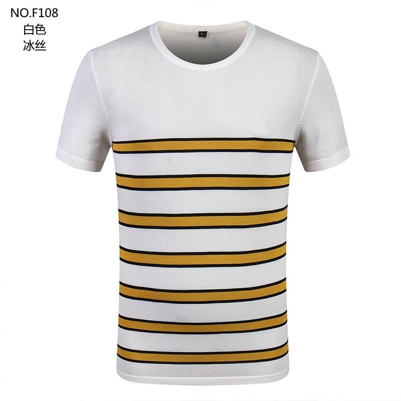 Big Size Stripe ice silk cloth wash Polo Shirt Men Summer Tops Male Polo Shirts Hombre Slim Fit Polo shirt Plus Sitze XXXXL