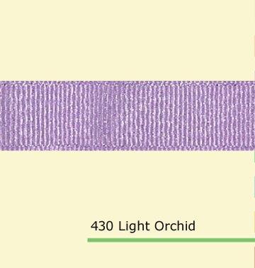 7/8 «дюйма (22 мм) оптовая серебряный блеск свет Орхидея полушерстяной лентой
