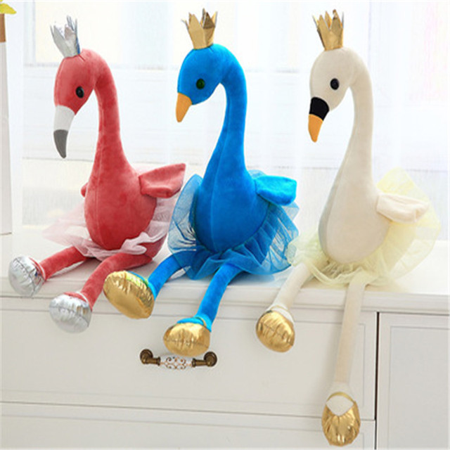 Cute flamingo Plush Toys with crown Soft Animal Stuffed Toys, Children's Toys Baby Toys, Home Decor Collection For Birthday Gift