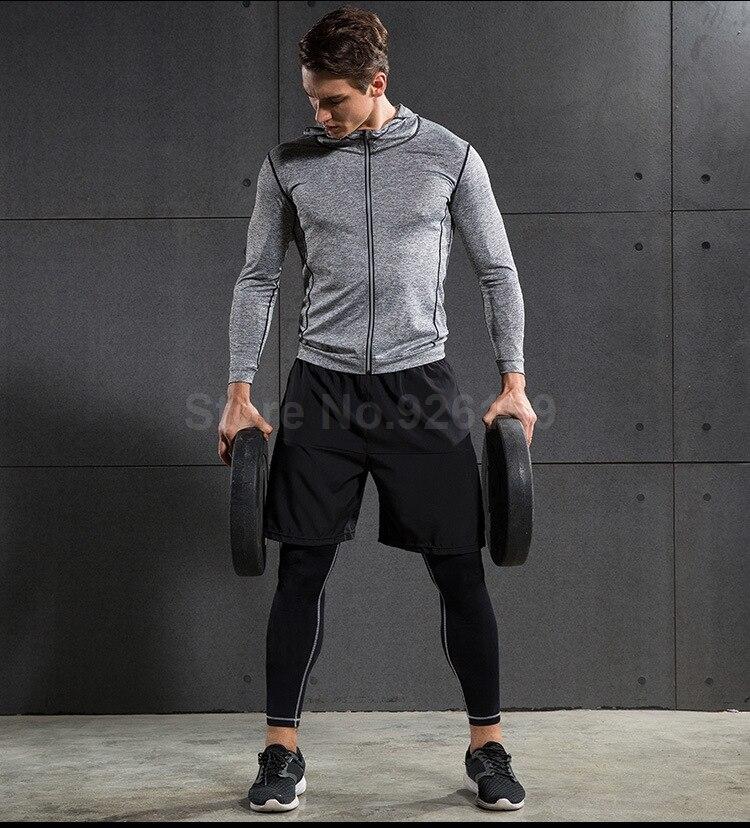 2018 Vansydical Mens Sport Suit Running Suits 5pcs Men Gym Clothing