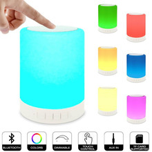 DOITOP Mini Colorful LED Bluetooth Speaker Support Handsfree Call Lighting Wireless Music Subwoofer For Phones Tablet PC SD A3