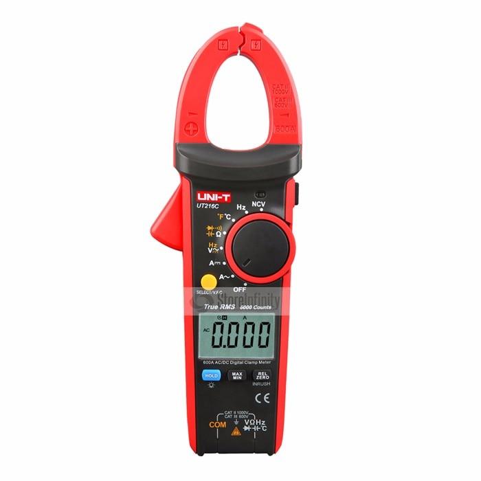 UNI-T UT216C True RMS Digital Clamp Meter Frequency Capacitance Temperature&NCV Tester AC/DC 600A