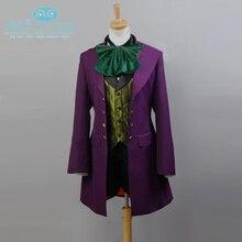 Black Butler II Alois Trancy Uniform Purple Coat Jacket Pants Shirt Anime Halloween Cosplay Costume For Men Custom Made