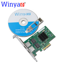 Winyao WY576T PCIe X4 Dual Port Server Adapter Copper RJ45 Gigabit 1000Mbps Ethernet Network Card For Intel 82576 E1G42ET lan(China)
