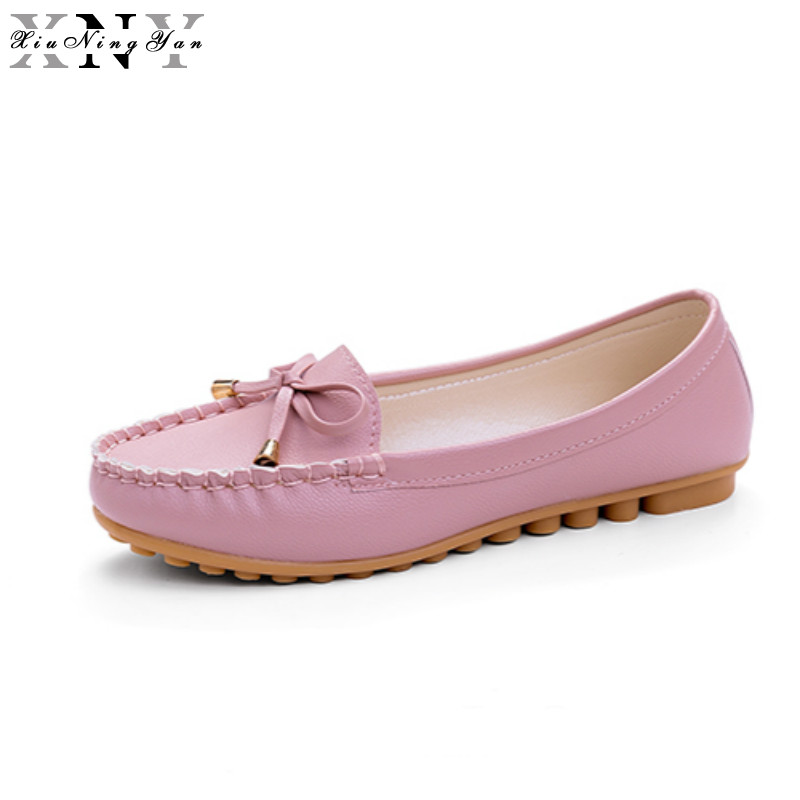 2017 New Summer Pu Leather Women Flats Shoes Female Casual Flat Women Loafers Shoes Slips Leather Black Flat Women's Shoes 2/30 flat shoes women pu leather women s loafers 2016 spring summer new ladies shoes flats womens mocassin plus size jan6