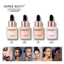 HERES B2UTY Liquid Highlighter Concealer Shimmer Face Glow Ultra-concentrated illuminating bronzing drops 15ml 4 color