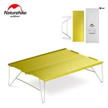 Naturehike Алюминиевый Сплав стол Открытый прочный светильник складной стол из нержавеющей стали Кемпинг портативный чайный столик 2 цвета
