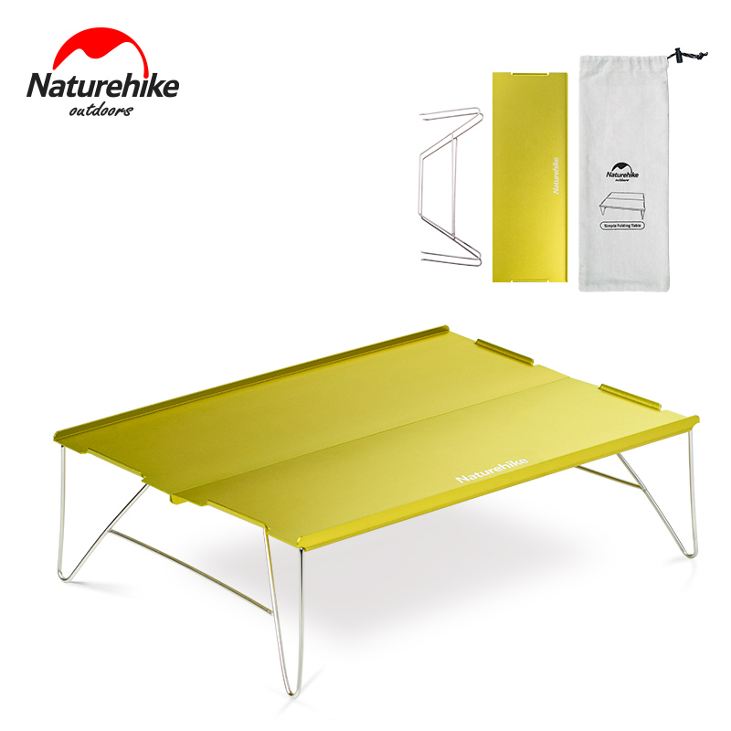 Naturehike Aluminum Alloy Table Outdoor Durable Light Folding Stainless Steel Desk Camping Portable Tea Table 2 ColorsNaturehike Aluminum Alloy Table Outdoor Durable Light Folding Stainless Steel Desk Camping Portable Tea Table 2 Colors