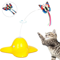 Puzzle Interactive Pet Supplies Butterfly Feifei Electric Swivel Cat Toys Luminous Butterfly Fun Cat Stick Game