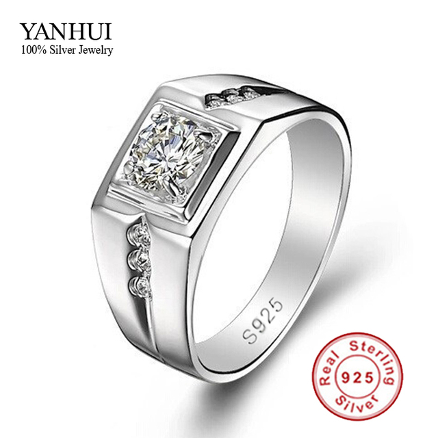 Fine Jewelry Men Ring 925 Sterling Silver Wedding Rings For Men
