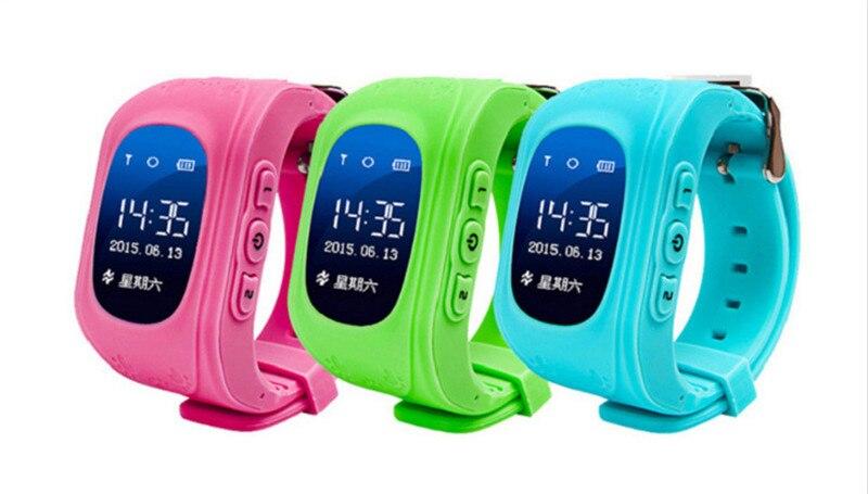 imágenes para Niños GPS Tracker Q50 Reloj Inteligente Para Los Niños Usable OLED LCD Electrónico con IOS y Android Tarjeta SIM de Teléfono Celular relojes