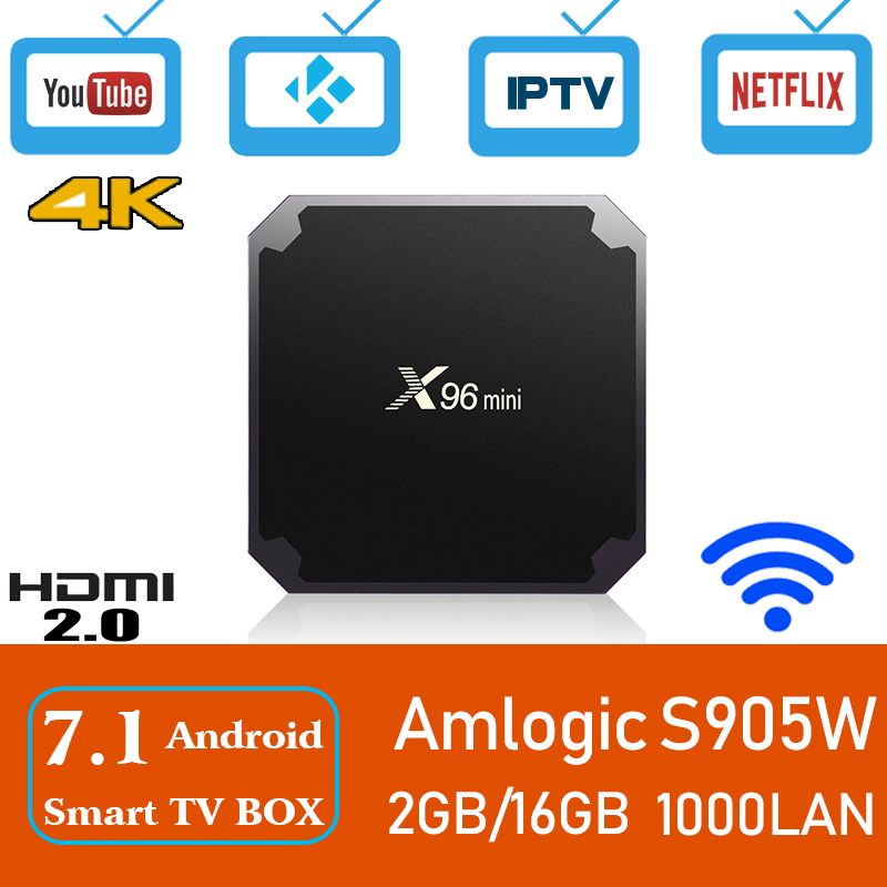 Xinways Amlogic S905W X96 Mini 2G/16G Android 7.1.2 Quad Core Support 4K Android tv box губка tetra bf 400 600 700 800 s