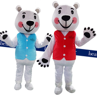 Teddy Bear Mascot Costume Bear panda Lovely Cartoon Appearance Costume Adult Fancy Dress Clothing Halloween Party Suit