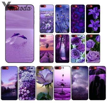 Yinuoda infinity on Purple DIY Luxury High-end Protector Case for Apple iPhone 8 7 6 6S Plus X XS MAX 5 5S SE XR Cover image