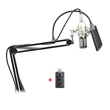 Neue platz mikrofon filter BM800 kondensatormikrofon studio sound + halterung + 7,0 soundkarte tragbare