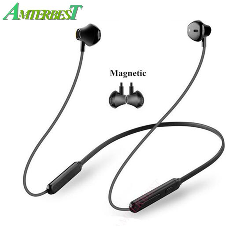 AMTERBEST Wireless Bluetooth Earphone Sports Magnetic Double Battery Headphone Stereo Bass Headset with Mic for IOS Android-in Bluetooth Earphones & Headphones from Consumer Electronics on AliExpress
