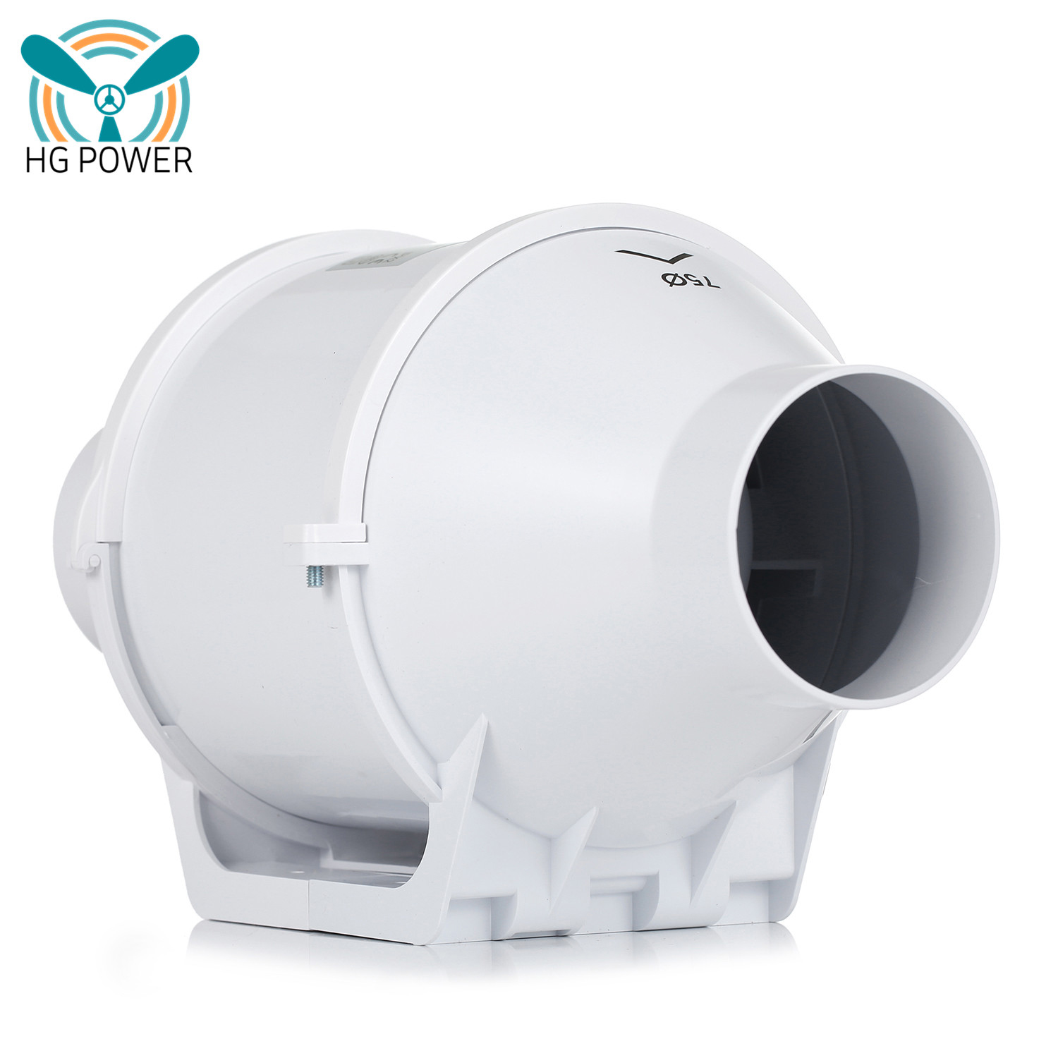 """GHOST-FANS 6/""""//150MM HIGH POWERED INLINE MIXED FLOW VENTILATION EXHAUST EXTRACTOR"""