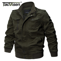 TACVASEN Military Jacket Men Winter Cotton Jacket Coat Army Men S Pilot Jackets Air Force Spring