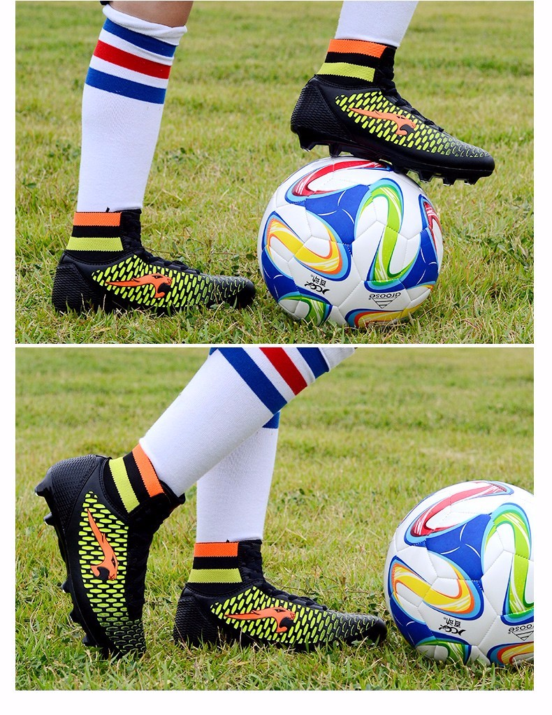 High Ankle Football Boots Kids Soccer Cleats Teenagers Outdoor AG Training Sneakers Botines Botas Futbol 2017 Superfly Original 9