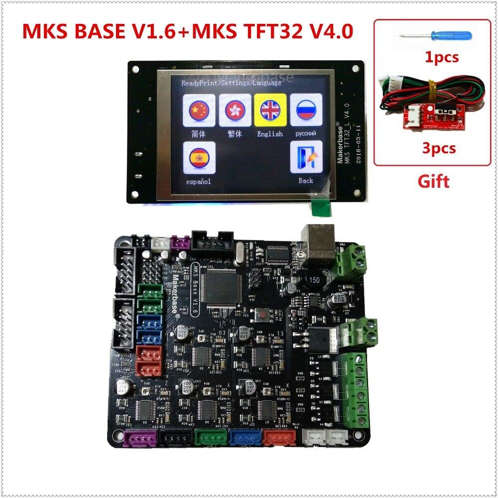 3d impresora kit de arranque madre MKS BASE + MKS TFT32 V4.0 pantalla táctil todo en un solo controlador imprimante Reprap panel de control