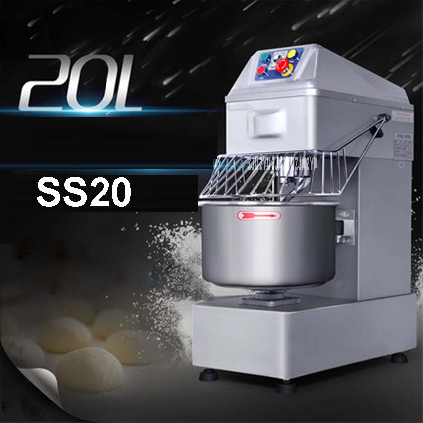 SS20 Stainless steel table type 20L small industrial blender pasta mixer mixing machine 110 v220 v Mixing Bowl 230*390mm 1500W