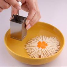 Chrysanthemum Flower Tofu Knife Cutter  Stainless Steel Cheese Slicer Mold Kitchen Tools Rotary Grater