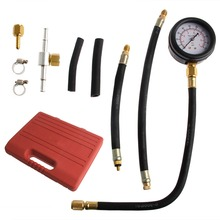 1set Car Fuel Injection Pump Tester Injector Pressure Test Diagnostic Gauge Kit Tool car styling