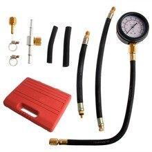 1set Car Fuel Injection Pump Tester Injector Pressure Test Diagnostic Gauge Kit Tool car-styling
