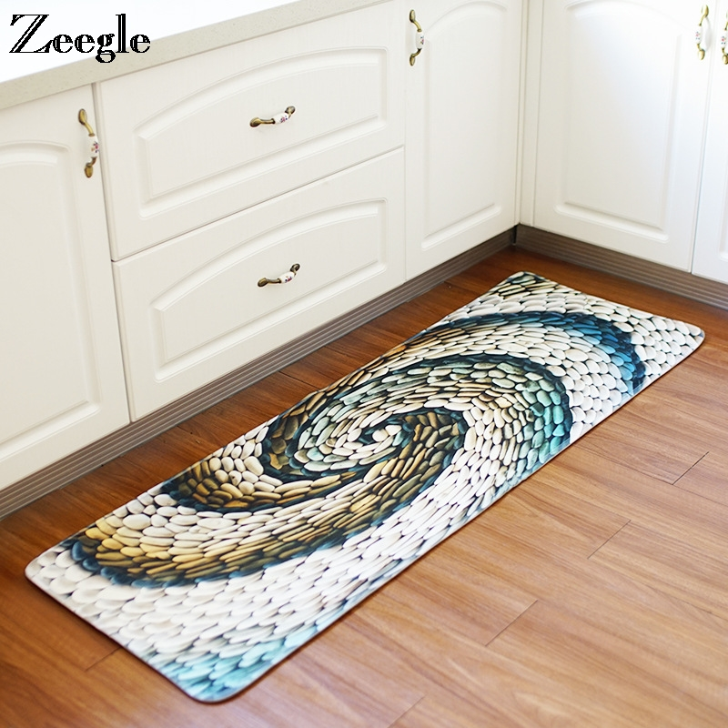 Zeegle Polyester Kitchen Rugs Anti Slip Coffee Table Floor