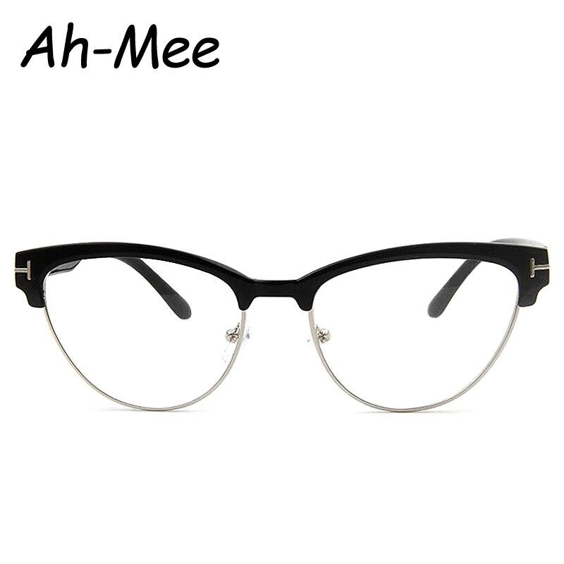 Vintage Eyewear Women Brand Designer Cat Eye Nerd Glasses Retro ...