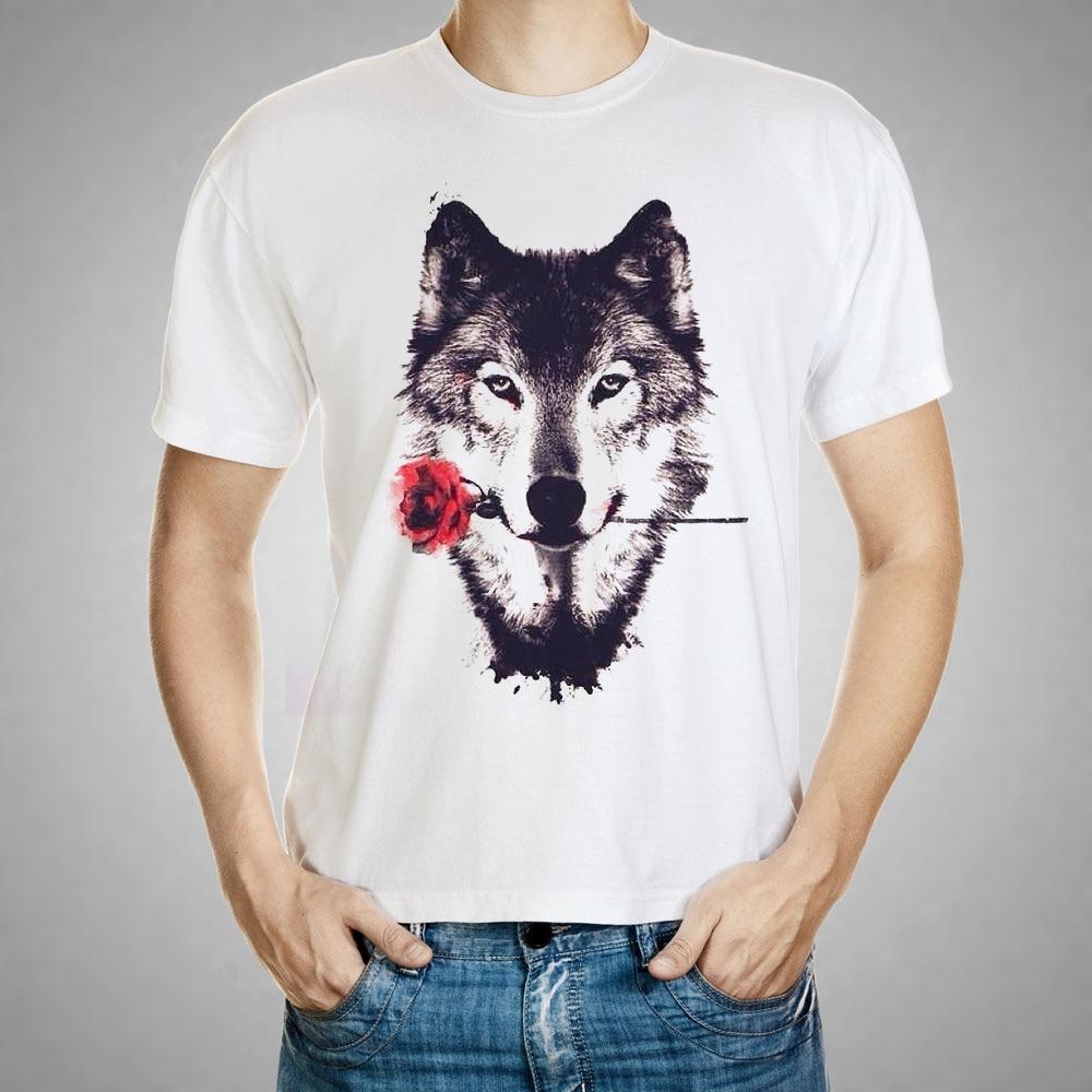 2016 Fashion Merek Pria T Shirt 3d Serigala Cetak Musim Baju Atasan Blouse Wanita  A330 Panas Pendek Lengan Kemeja M 3xl Ukuran Besar Punk Tees Pakaian