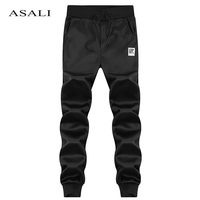 ASALI Brand Spring Casual Pants Men Skinny Mens Sweat Pants Male Cotton Sportswear Menswear Long Casual Trousers Straight Pants