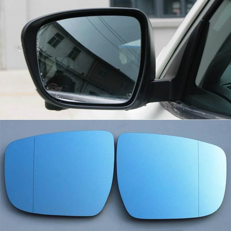 2 stücke Neue Leistung Erhitzt w/Blinker Seite Rückspiegel Blau Brille Für Nissan X-Trail