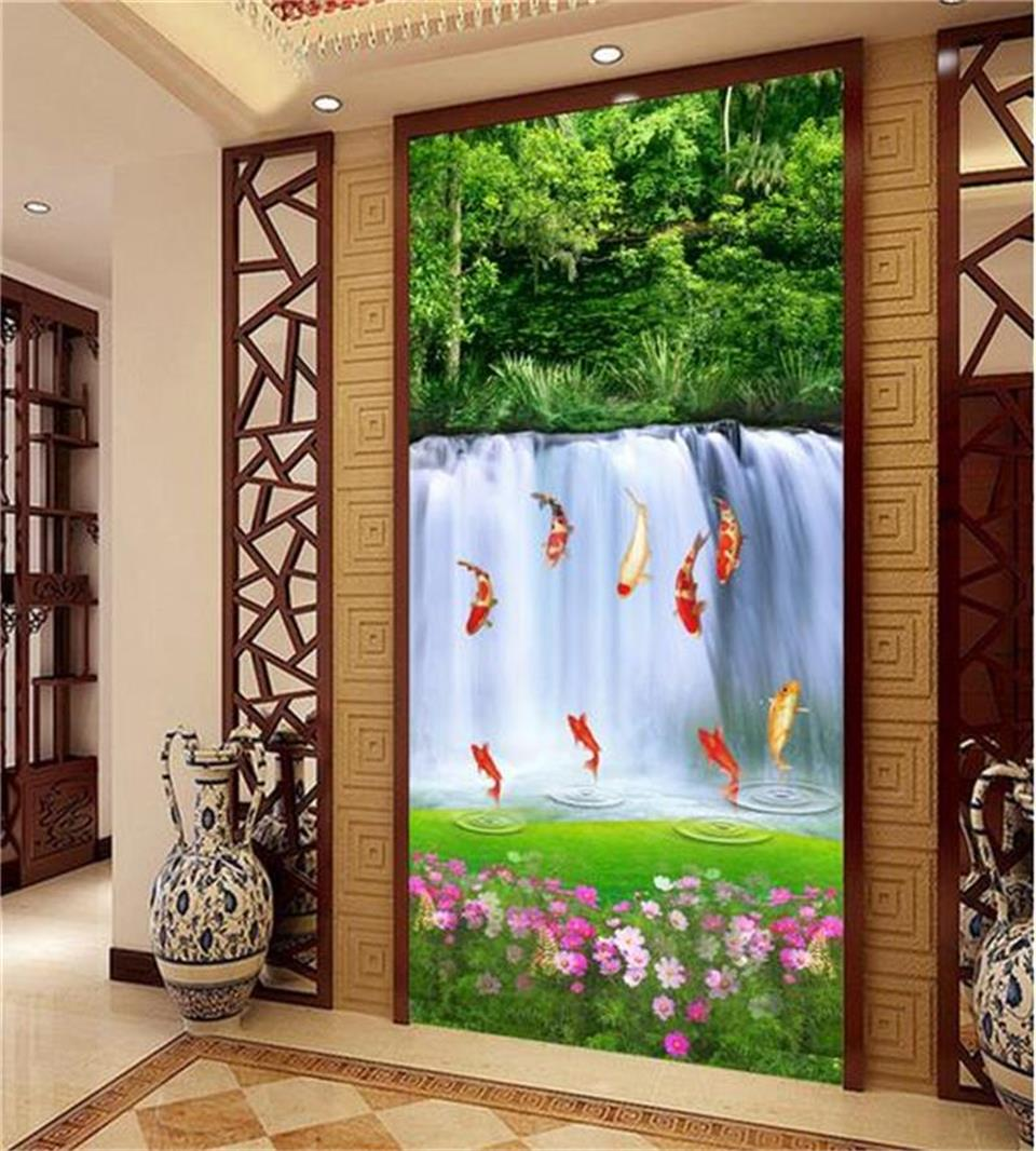 Custom size photo mural living room porch 3d wallpaper for Custom photo mural