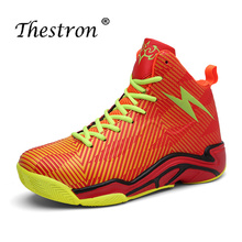 New Cool Men Outdoor PU Shoes Lace-Up Mens Basketball Rubber Wearable Sneakers Non-Slip Women