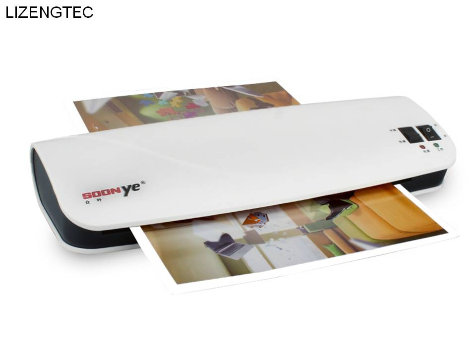 Office Electronics Free Shipping Lizengtec New Professional Office Hot And Cold Fast Warm-up Roll Laminator Machine For A4 Paper Document Photo