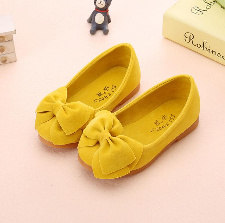 Cute Baby Toddler Single Shoes Girl Soft Bowknot Flat Shoes Spring Summer Girls Princess Shoes Slip On Solid Sneakers For Girl