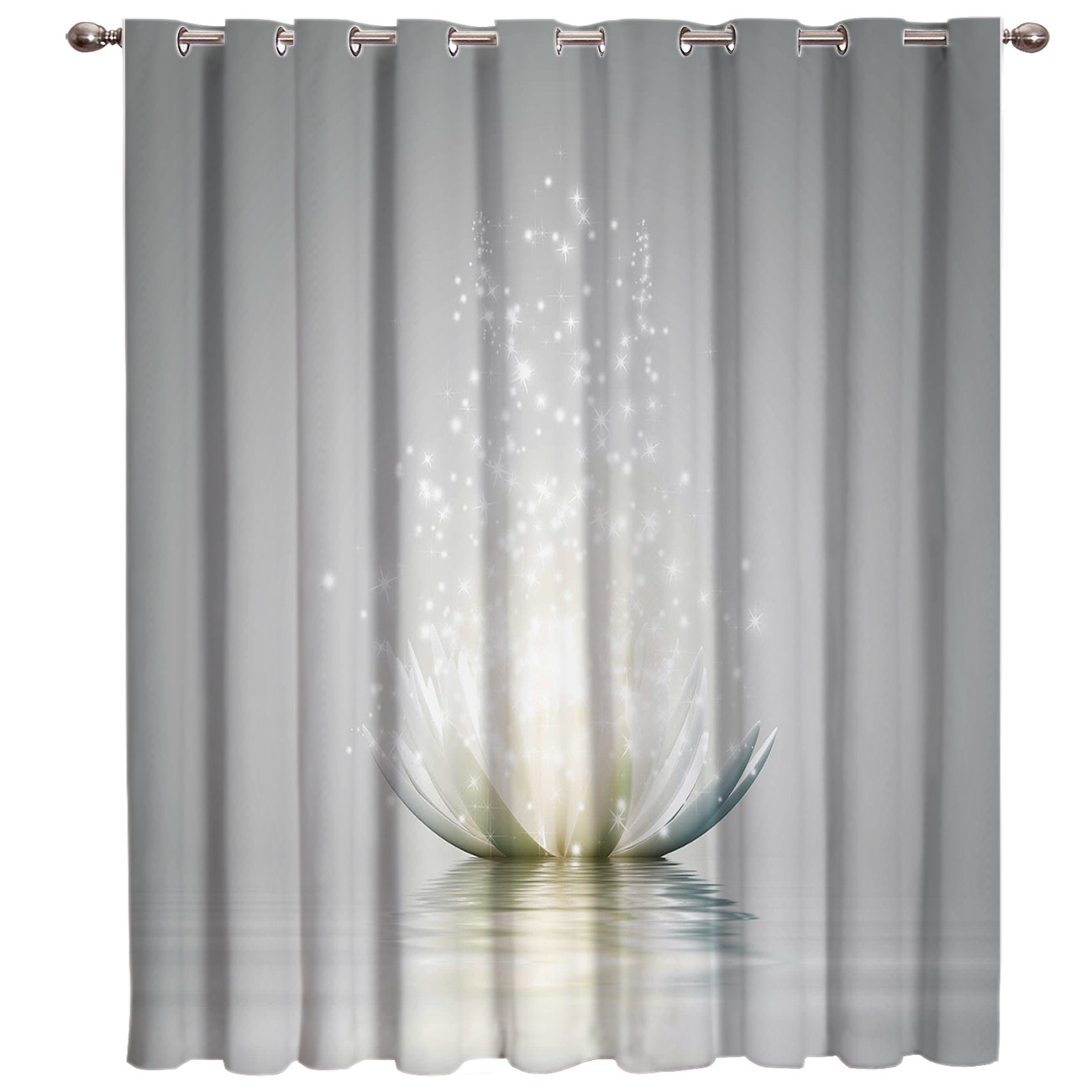 Flower Abstract Lotus Window Treatments Curtains Valance Window Curtains Dark Living Room Blackout Kitchen Outdoor Indoor Floral