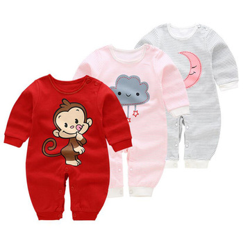 3PCS/Set Newborn Baby Rompers Boy Playsuit Clothes Cotton Cute Jumpsuit Infant Girl Body Romper Clothing for 0-12M Baby Accessories