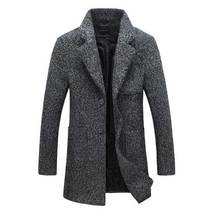 Chaqueta de Lana de Abrigo Para Hombre 5XL Chaqueta de Abrigo de Lana. Moda Otoño Invierno 2017