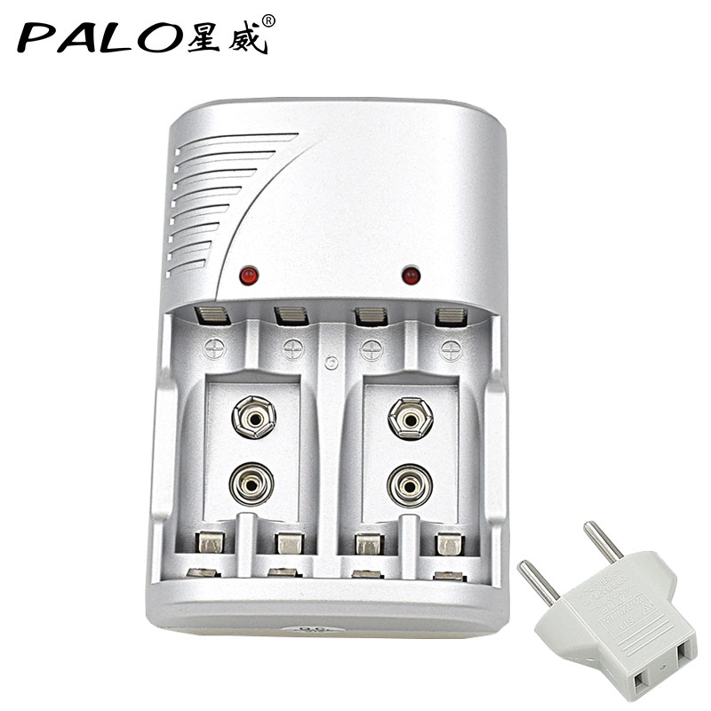 Original PALO Brand 4 Slots 1.2v AA AAA 9V 6F22 Li-ion NI-MH NI-CD Battery Charger For Rechargeable Battery Batteries palo 8 slots battery charger nc09 with indicator for aa aaa ni mh ni cd rechargeable battery 8pcs aa rechargeable batteries