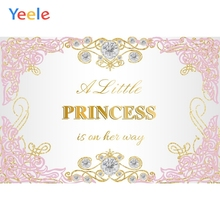 Yeele Baby Shower Photography Backgrounds Diamond Newborn Princess Custom Vinyl Photographic Backdrop For Photo Studio Props